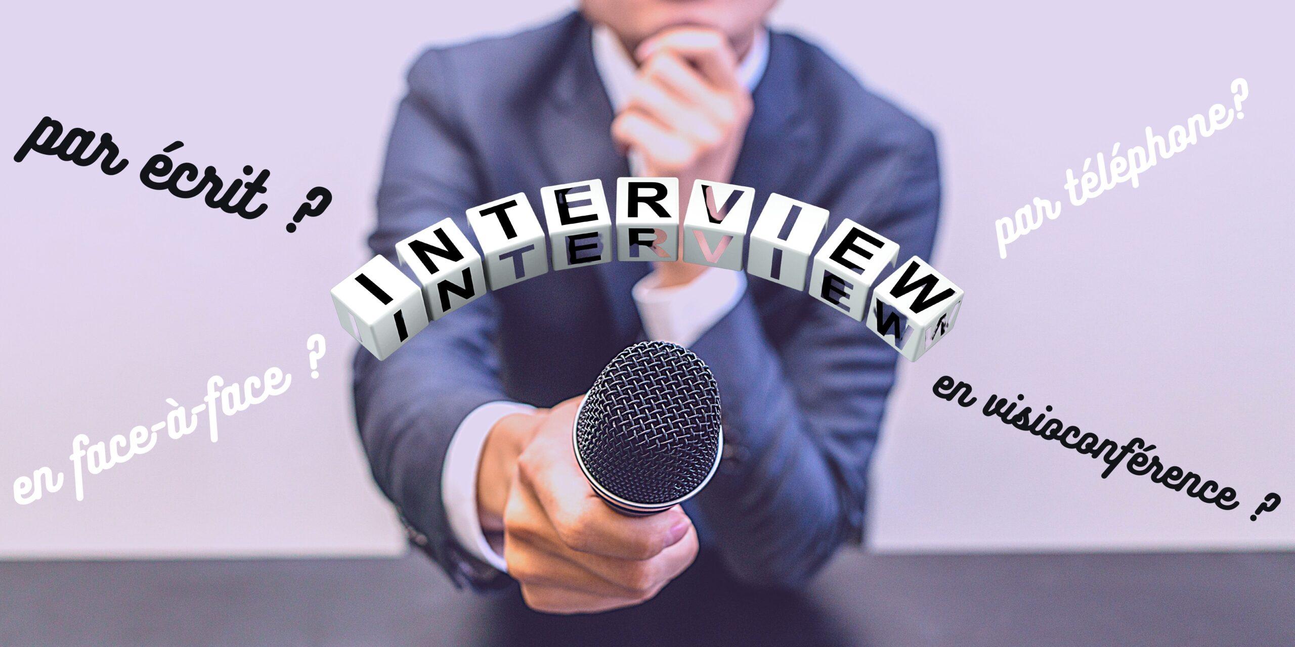 Les interviews écrites vont-elles remplacer les autres types d'interviews ?